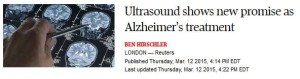 Alzheimers and Ultrasound